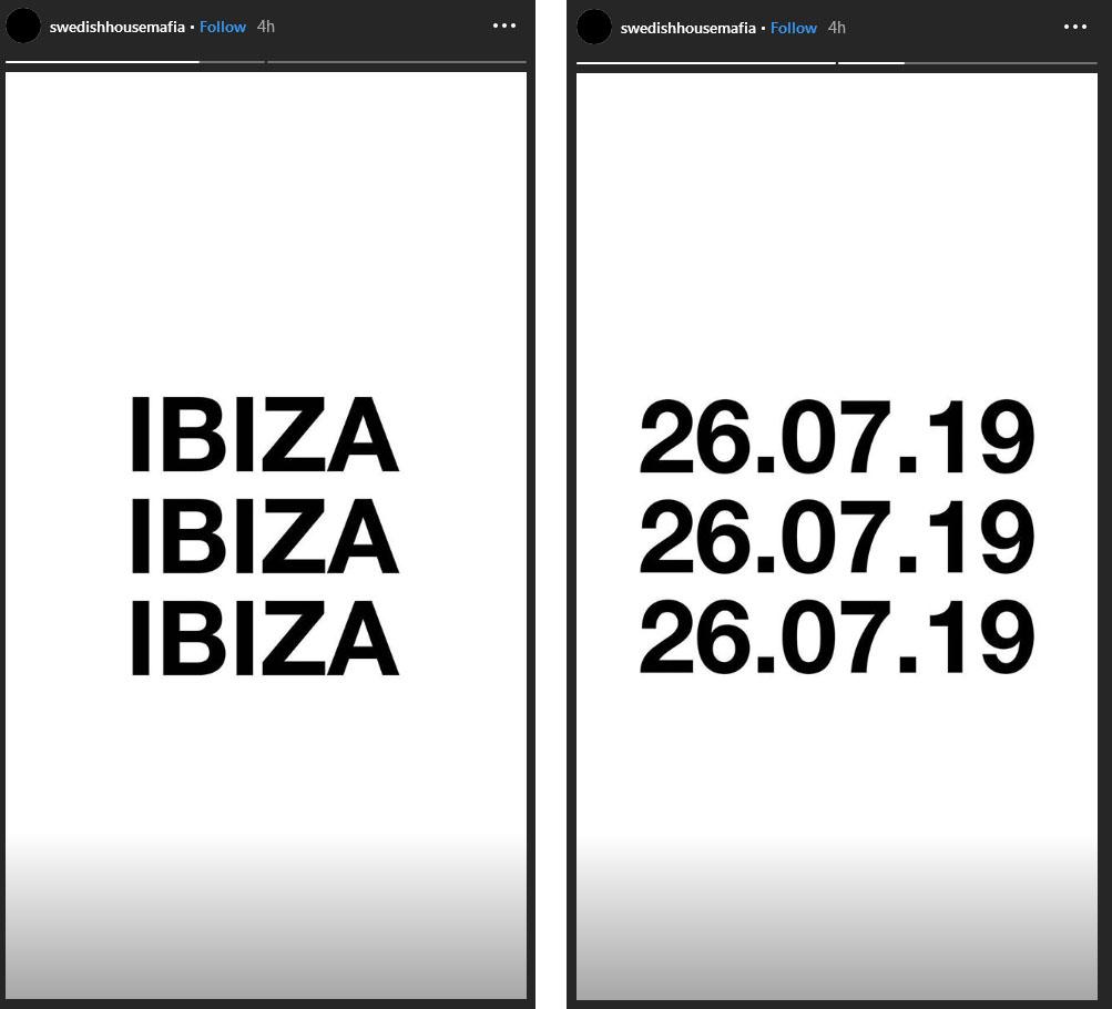 Swedish House Mafia Ibiza 26 July 2019